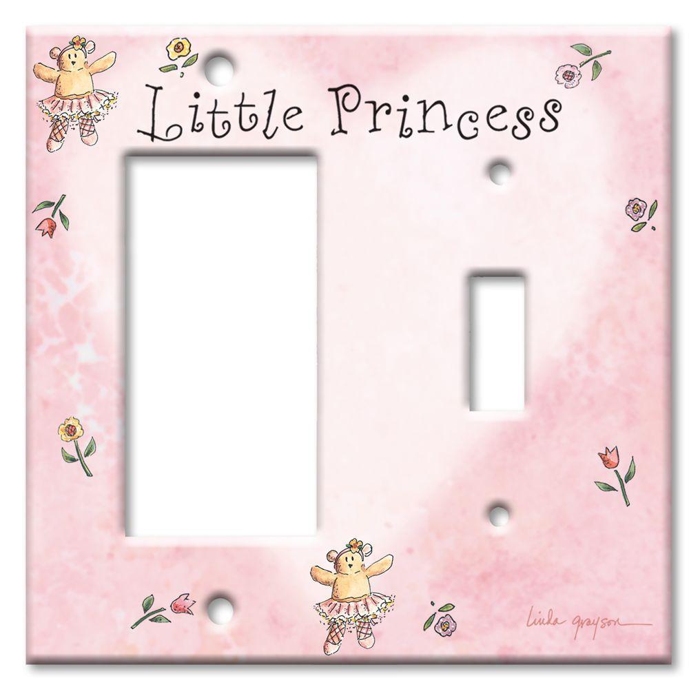 Art Plates Little Princess Rocker/Switch Combo Wall Plate