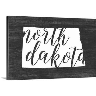 """Home State Typography - North Dakota"" by Inner Circle Canvas Wall Art"