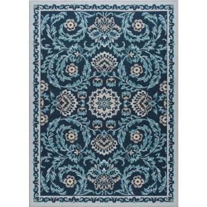 Majesty Navy 4 ft. x 5 ft. Transitional Area Rug