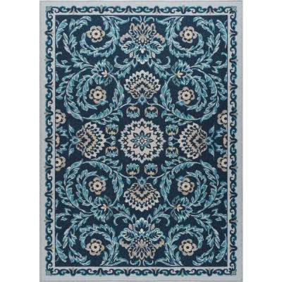 Majesty Navy 6 ft. 7 in. x 9 ft. 6 in. Transitional Area Rug