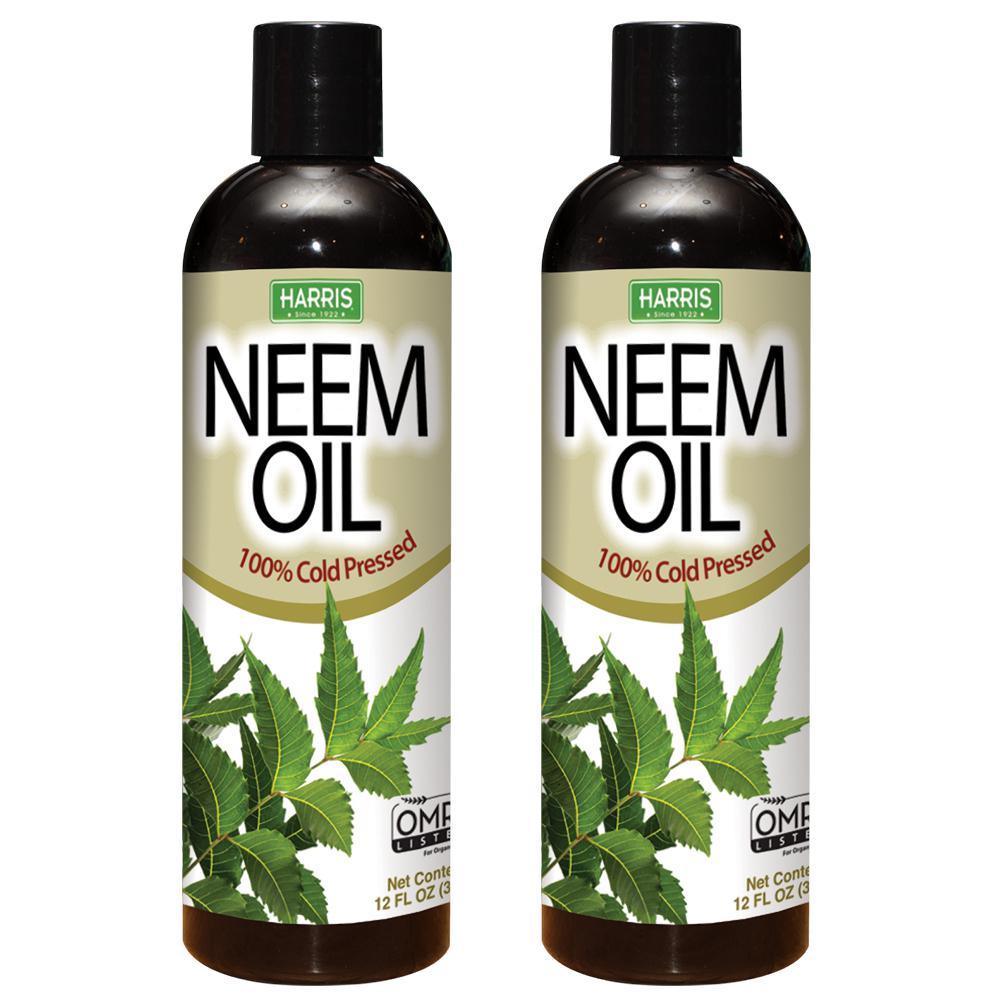 12 oz. 100% Cold Pressed Unrefined Cosmetic Grade Neem Oil (2-Pack)