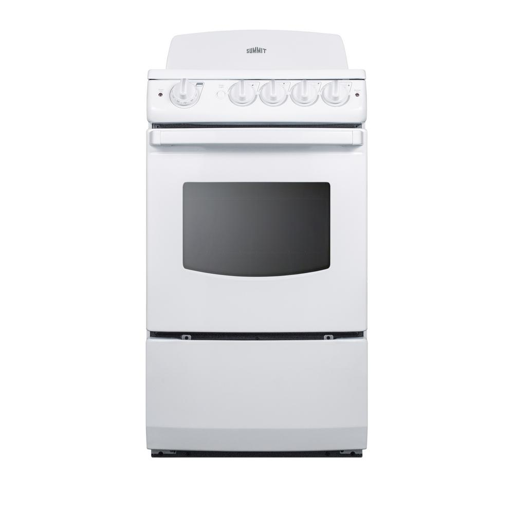 20 in. 2.4 cu. ft. Electric Range in White