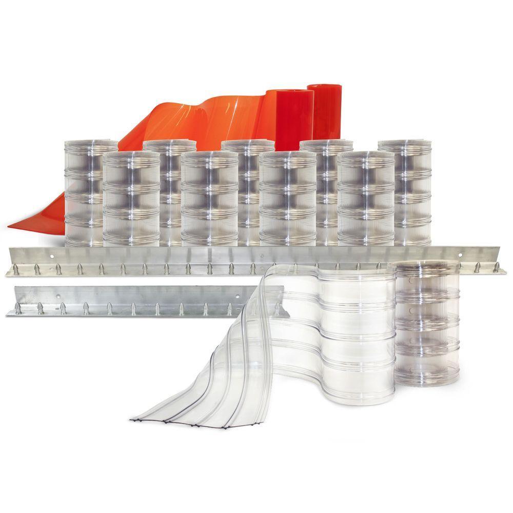 Clear-Flex II 6 ft. x 8 ft. PVC Strip Door Kit