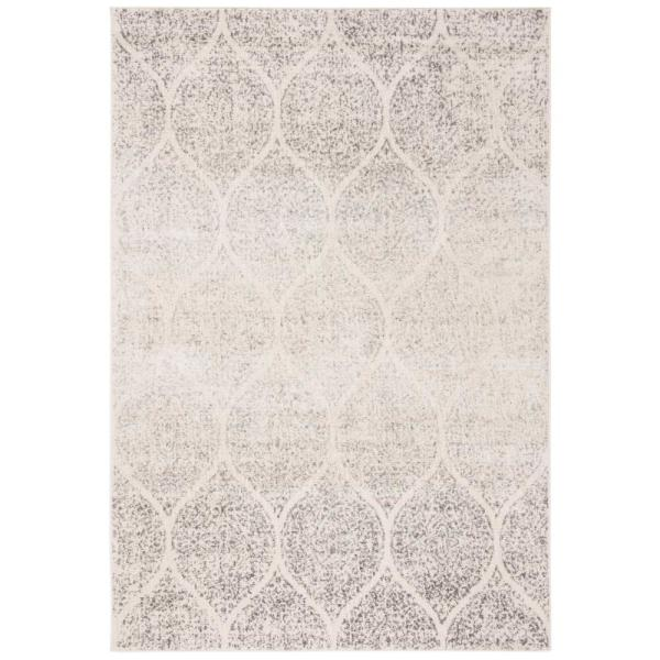 Madison Ivory/Silver 7 ft. x 9 ft. Area Rug