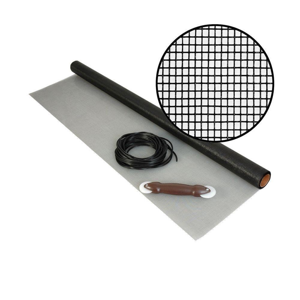 36 in. x 25 ft. Fiberglass Screen Kit with Spline and Roller