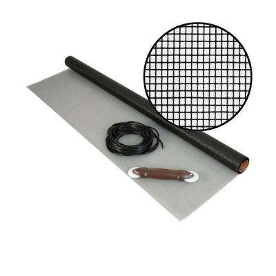36 in. x 25 ft. Fiberglass Screen Kit with Spline and Roller