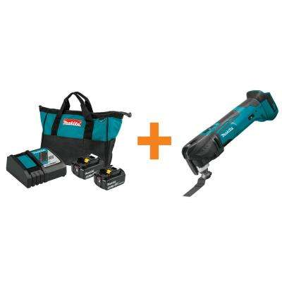18-Volt LXT 4.0 Ah Battery and Rapid Optimum Charger Starter Pack with Bonus 18-Volt LXT Cordless Multi-Tool (Tool-Only)