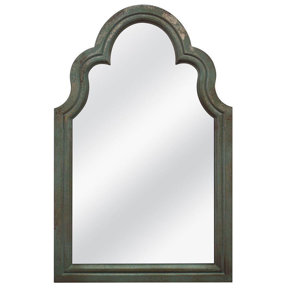 MCS 25.625 in. x 39.75 in. French Arch Framed Mirror - DISCONTINUED