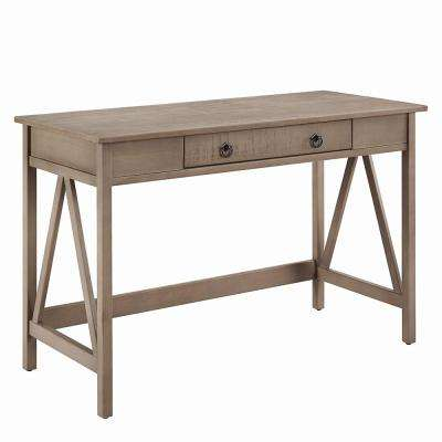 Greenville Rustic Gray Washed Wood Desk