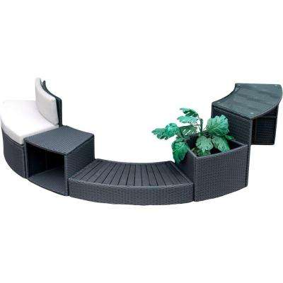 Round Spa Surround Furniture - 5 Piece