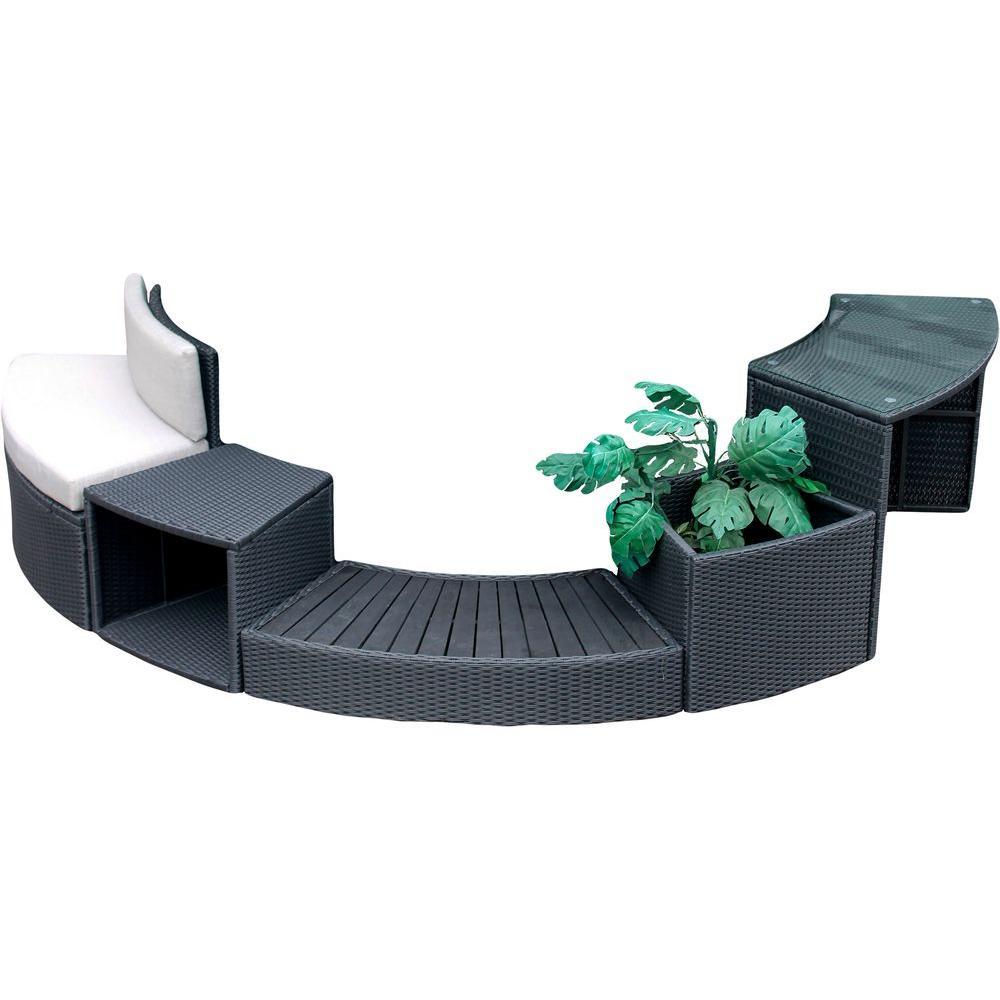Round Spa Surround Furniture - 5 Piece
