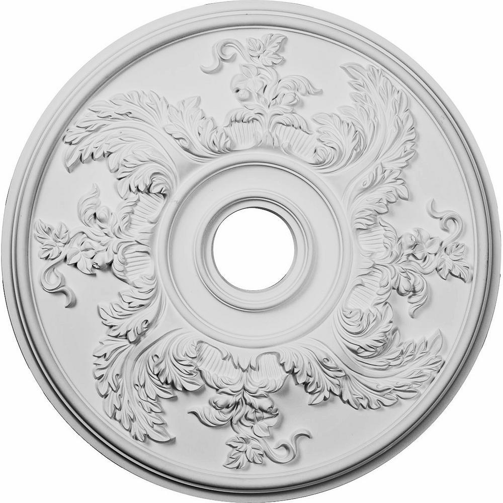Ekena Millwork 1-7/8 in. x 23-5/8 in. x 23-5/8 in. Polyurethane Acanthus Twist Ceiling Medallion Moulding