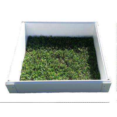 25 in. x 25 in. x 6 in White Vinyl Raised Garden Bed