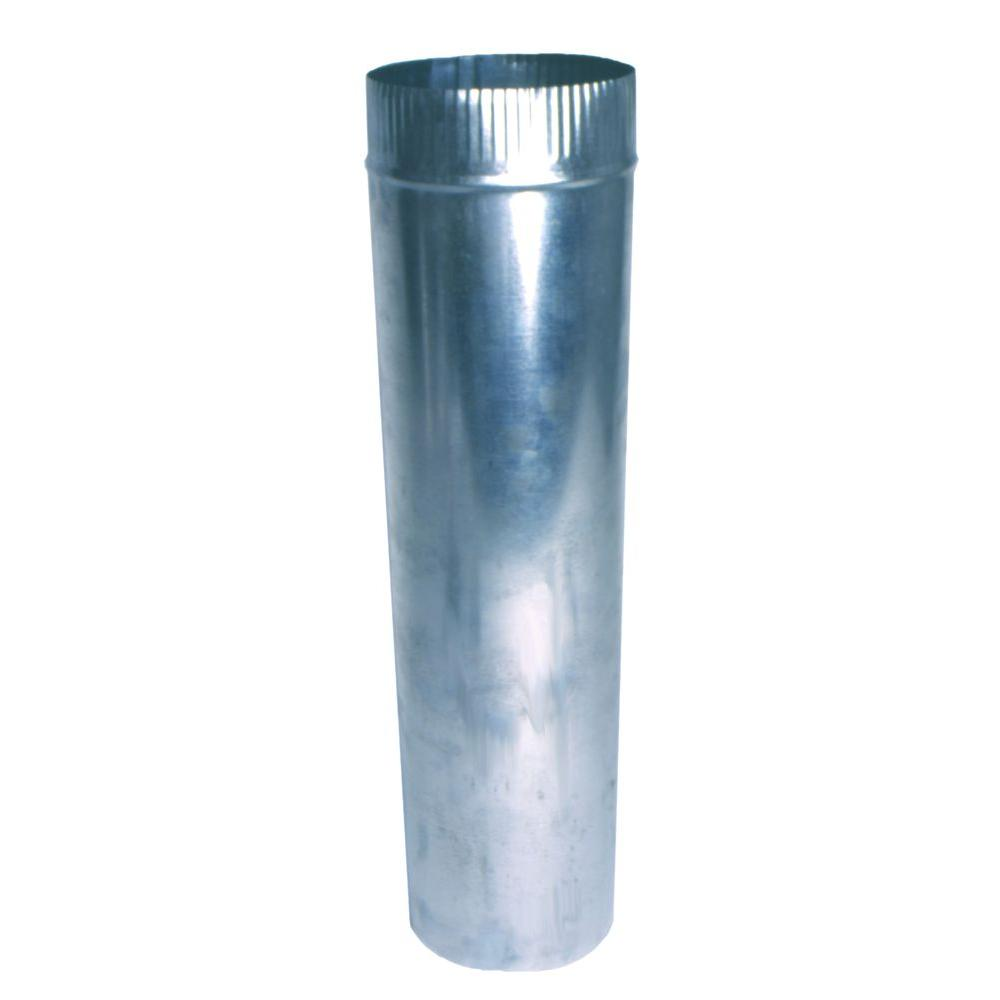 4 in. x 2 ft. Round Aluminum Pipe