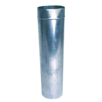 3 in. x 2 ft. Round Metal Duct Pipe