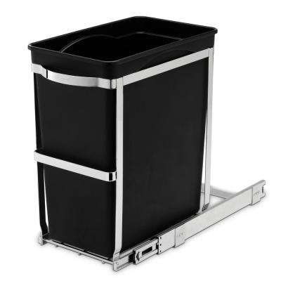 30-Liter Commercial-Grade Under-Counter Pull-Out Trash Can