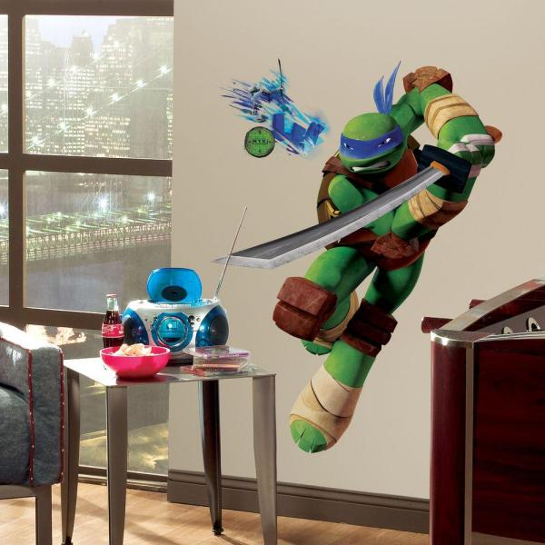 27.5 in. x 36.8 in. Teenage Mutant Ninja Turtles Leo Peel and Stick Giant Wall Decals
