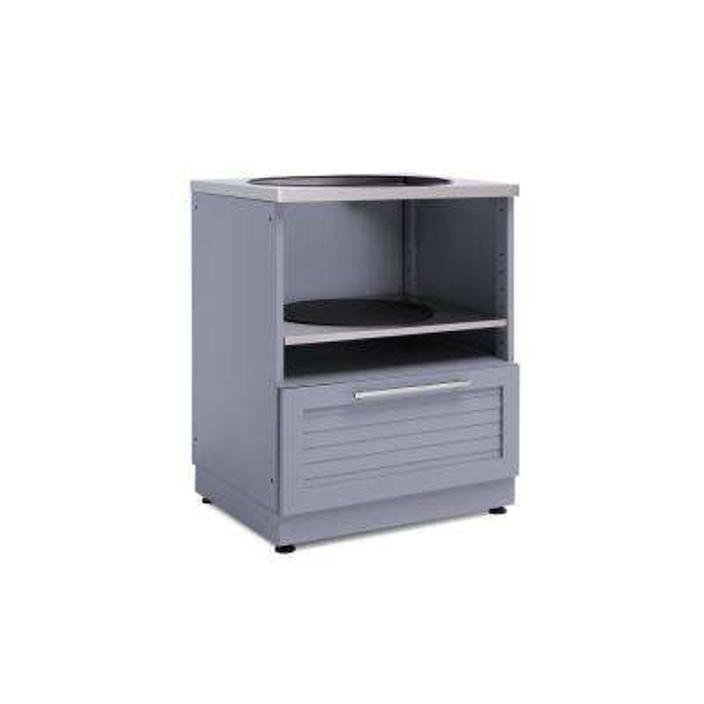 Coastal Gray Kamado 28 in. W x 36.5 in. H x 24 in. D Outdoor Kitchen Cabinet