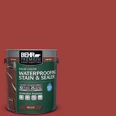 1 gal. #PPU2-16 Fire Cracker Solid Waterproofing Stain and Sealer