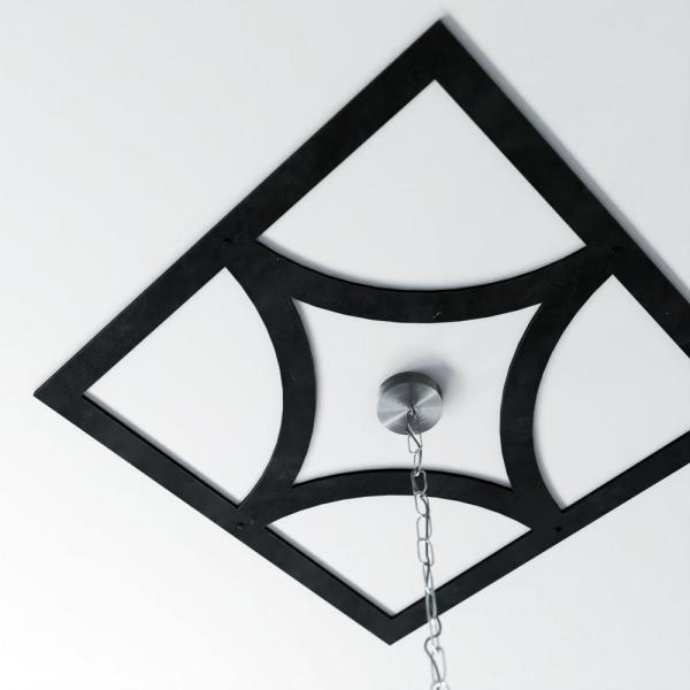 Ekena Millwork 3 16 In X 24 In X 24 In Statesman Metal Pierced Ceiling Medallion Cmm24002st The Home Depot