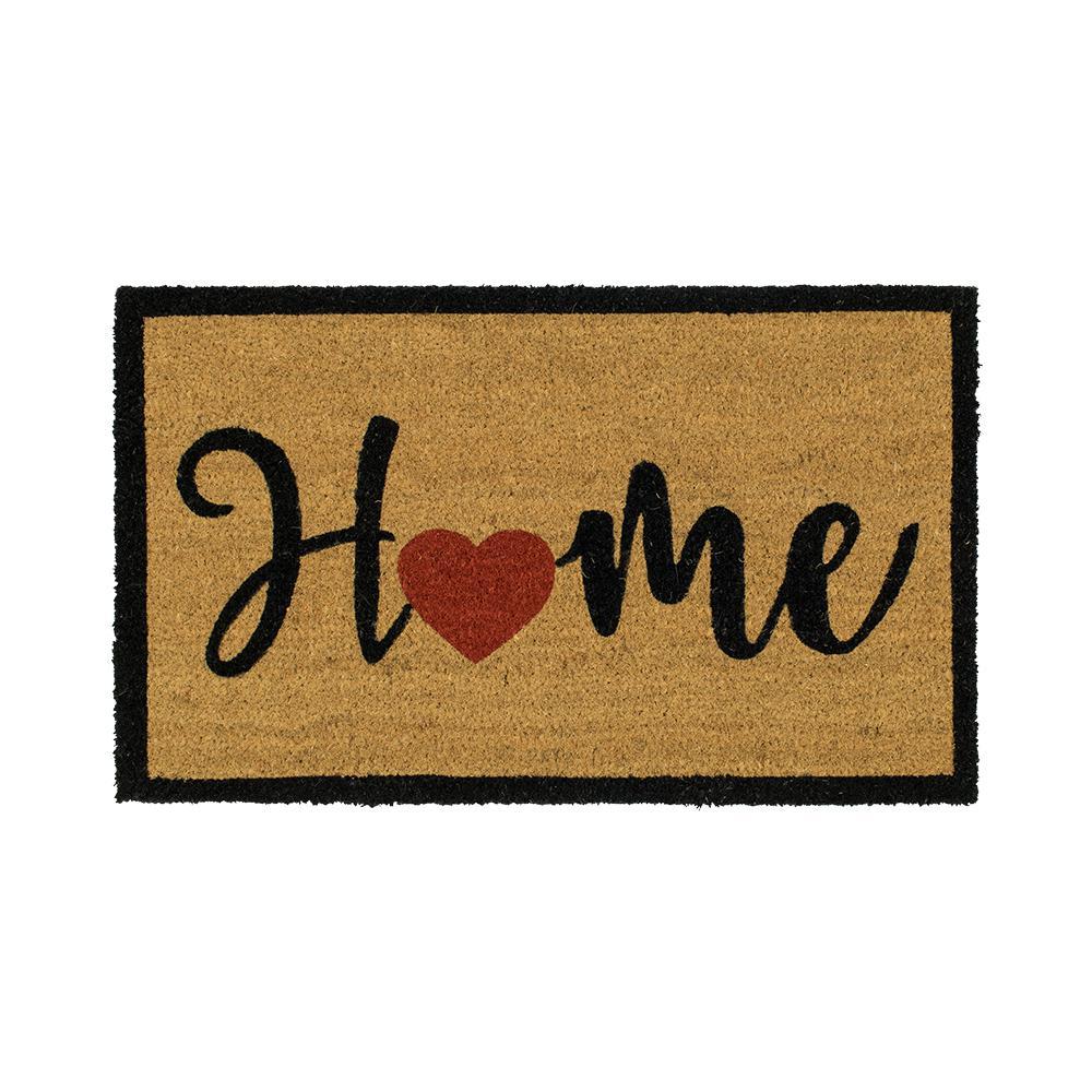 TrafficMASTER Home Heart Script 18 in. x 30 in. Coir Door Mat