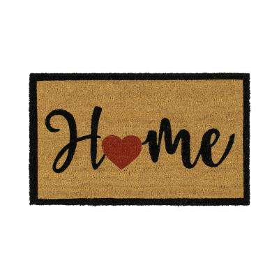 Home Heart Script 18 in. x 30 in. Coir Door Mat