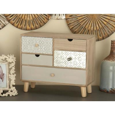 13 in. x 16 in. 5-Drawer Wooden Jewelry Box
