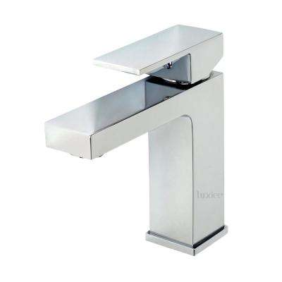 Single Handle Single Hole Contemporary Bathroom Vanity Sink Lavatory Faucet cUPC NSF in Chrome