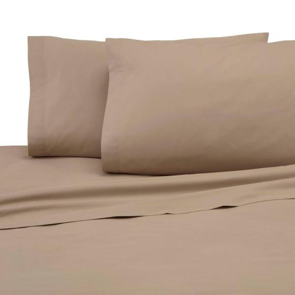 Martex 225 Thread Count Khaki Cotton King Sheet Set 028828991706