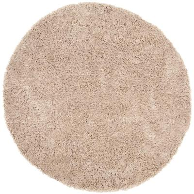 Classic Shag Ultra Taupe 8 ft. x 8 ft. Round Area Rug
