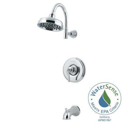 Ashfield 1-Handle Tub and Shower Faucet Trim Kit in Polished Chrome (Valve Not Included)
