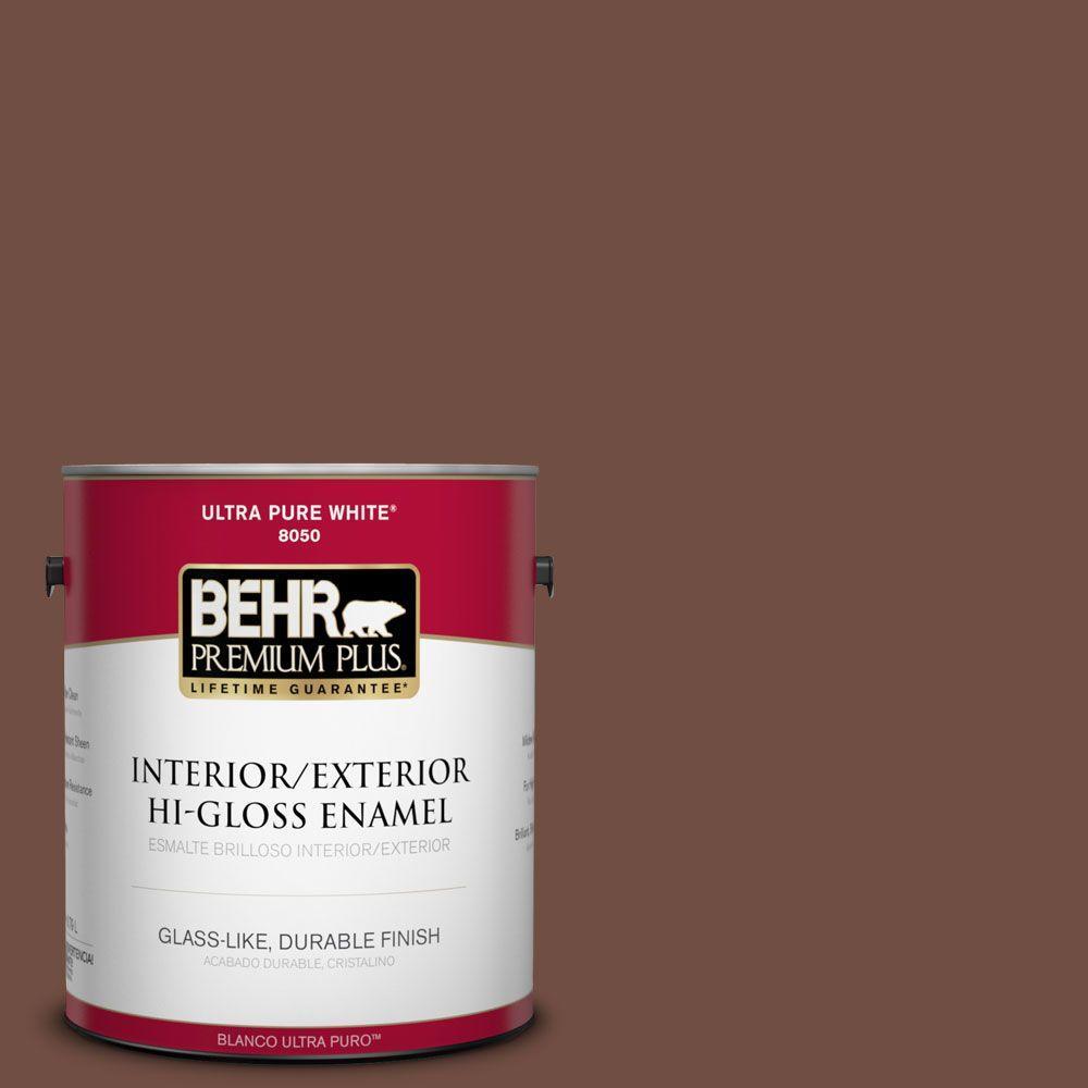 1-gal. #N160-7 Brown Velvet Hi-Gloss Enamel Interior/Exterior Paint