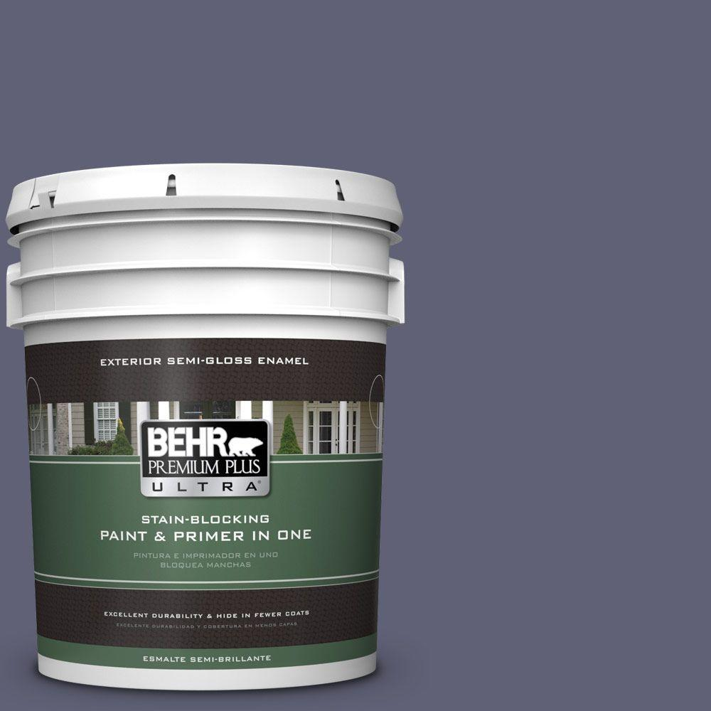 BEHR Premium Plus Ultra 5-gal. #620F-6 Purple Orchid Semi-Gloss Enamel Exterior Paint