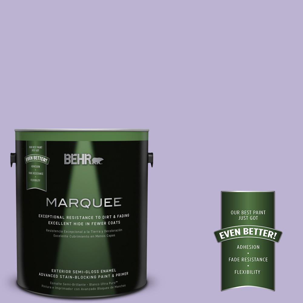 BEHR MARQUEE 1-gal. #M560-3 Grape Hyacinth Semi-Gloss Enamel Exterior Paint