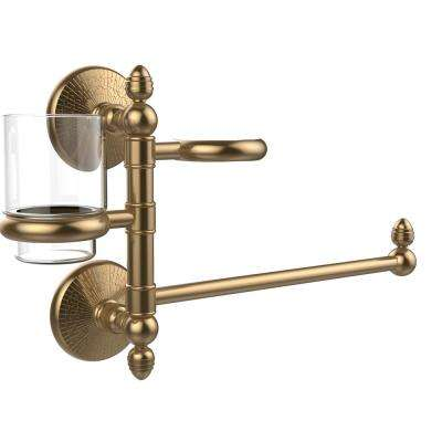Monte Carlo Collection Hair Dryer Holder and Organizer in Brushed Bronze