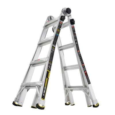 18 ft. Reach MPX Aluminum Multi-Position Ladder with 375 lb. Load Capacity Type IAA Duty Rating