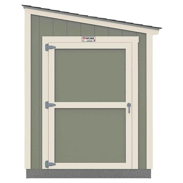 Installed The Tahoe Series Lean-To 6 ft. x 10 ft. x 8 ft. 3 in. Painted Wood Storage Building Shed