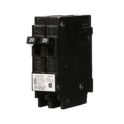 20 Amp Tandem Single Pole Type QT Circuit Breaker