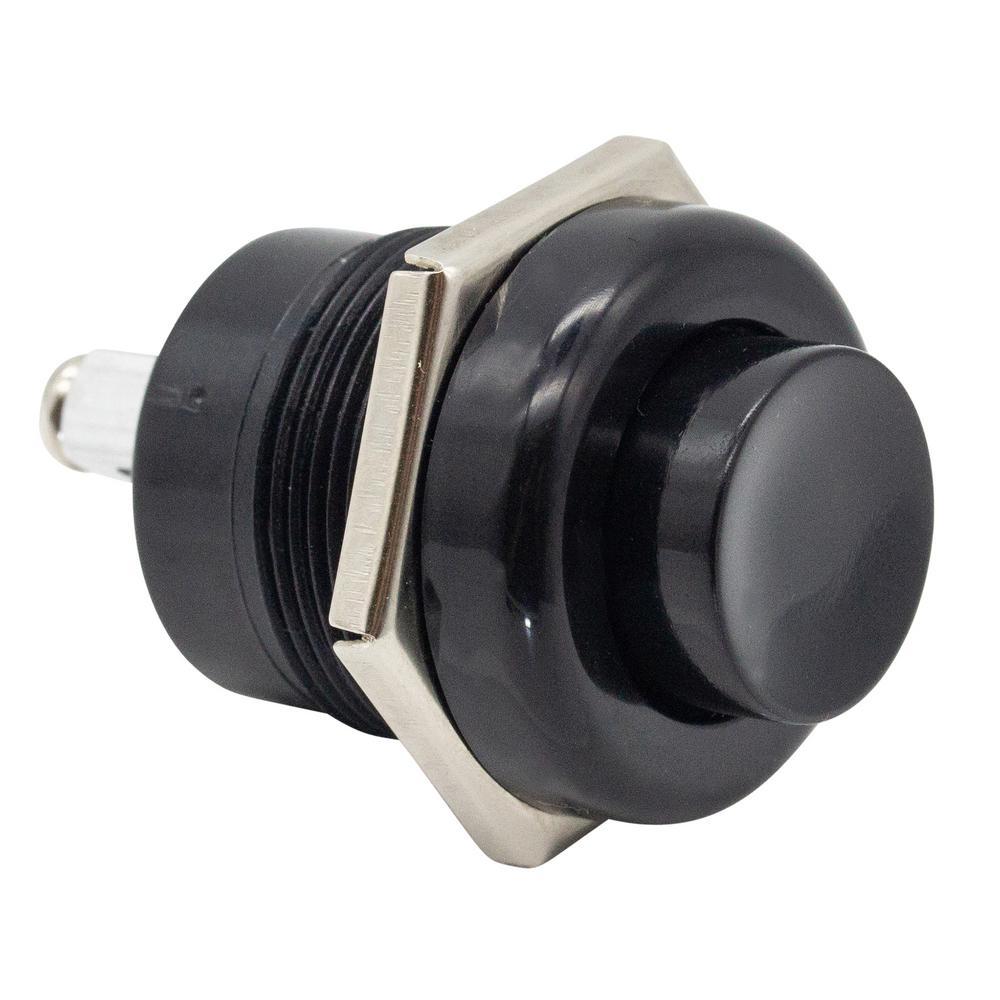 20 Amp Euro Push Button Switch, Black