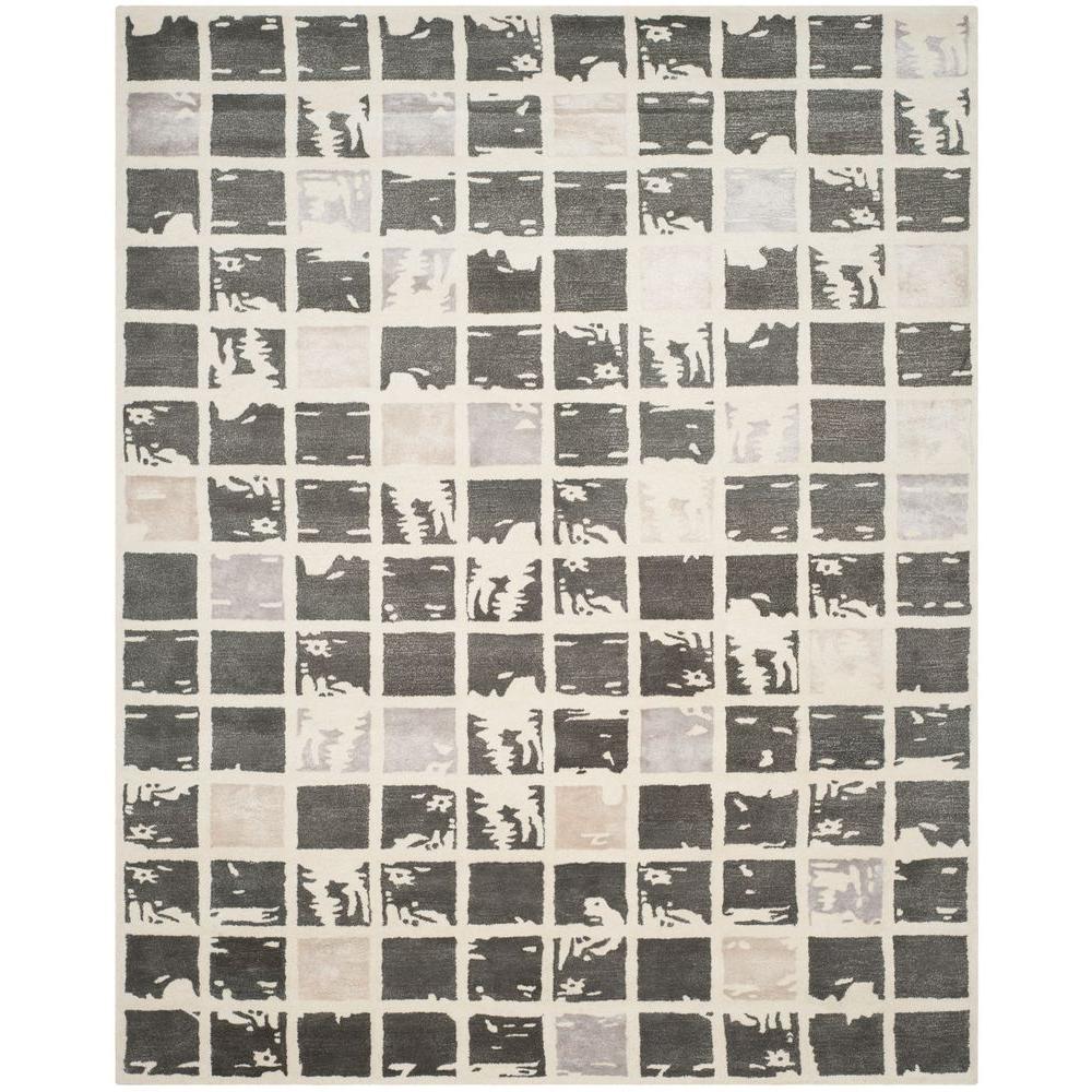 Bella Dark Grey/Ivory 8 ft. x 10 ft. Area Rug
