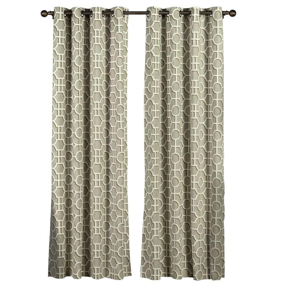 Creative Home Ideas Semi Opaque Lenox 100 Cotton Extra Wide 96 In L