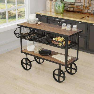 Mango Wood Kitchen Cart With Drawers