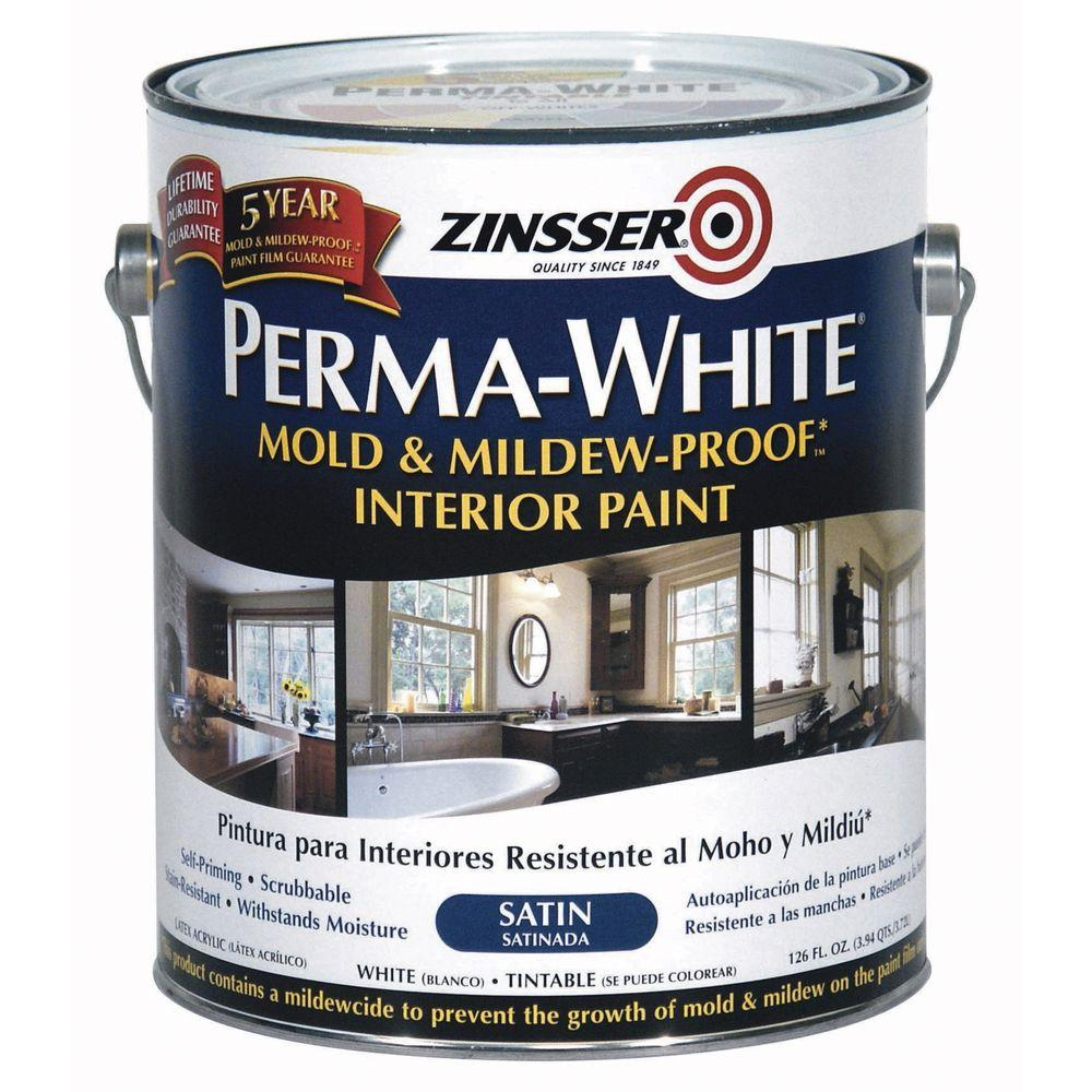 zinsser 1 gal. perma-white mold and mildew-proof satin interior