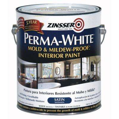 1 gal. Perma-White Mold and Mildew-Proof Satin Interior Paint (Case of 2)