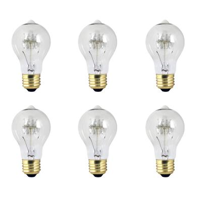 40-Watt AT19 Dimmable Incandescent Amber Glass Vintage Edison Light Bulb with Tungsten Filament Soft White (6-Pack)