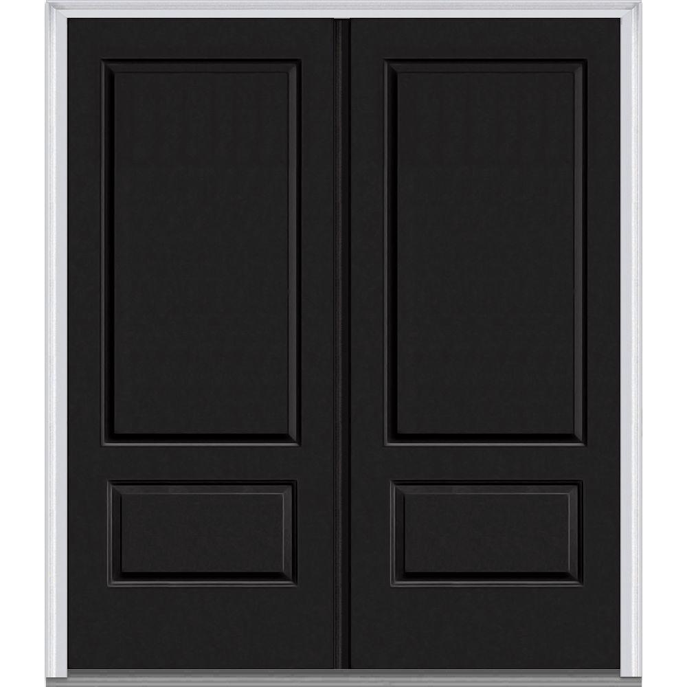 Energy Star Double Door Black Front Doors Exterior Doors