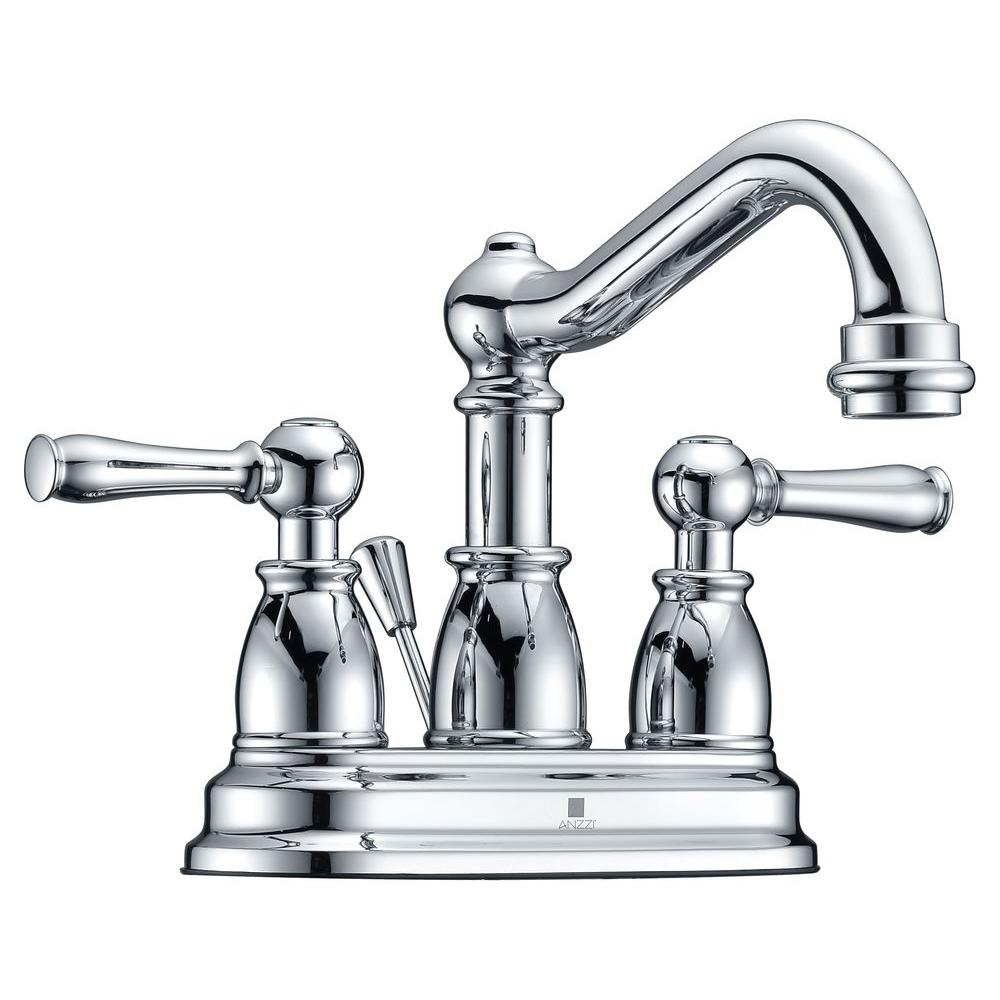 Edge Series 4 in. Centerset 2-Handle Mid-Arc Bathroom Faucet in Polished