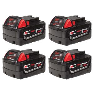 Deals on 4-Pack Milwaukee M18 18V Lit-Ion XC Battery Pack 3.0Ah