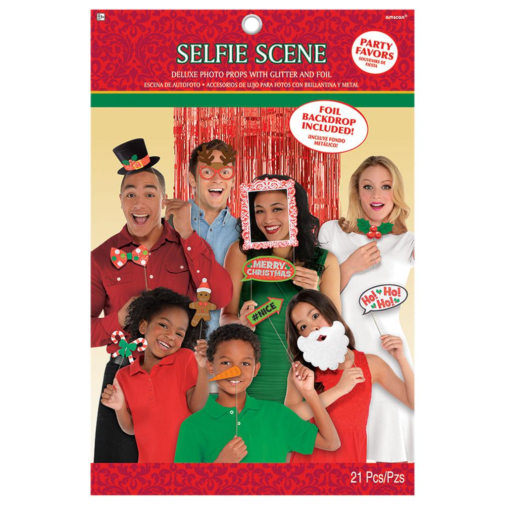 Christmas Photo Booth Prop Kit (21-Count)