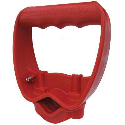 Back Saving Ergonomic Tool Grip Attachment for All Long Handled Tools, Red